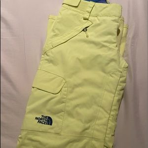North Face Bright Green Snowpants